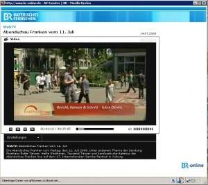 Link zum Fernsehbeitrag über die Guerilla-Marketing-Aktion in Fürth