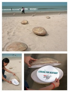 Guerilla-Marketing-Aktion ein Seafood-Festival