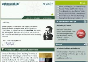 Interessant für Marketing-Guerillas: Kostenloser Newsletter zum Thema Online-Marketing