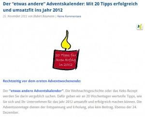 Adventskalender Baumann 300x242 Doppelte Vorfreude: 2 Online Adventskalender für Selbstständige