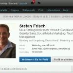 Profil LinkedIn Stefan Frisch