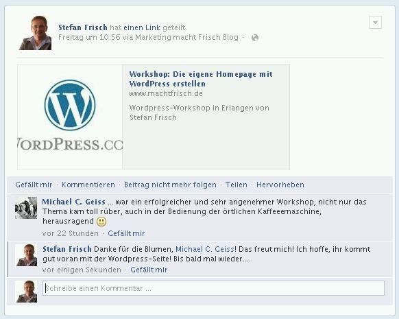 Workshop WordPress Referenz