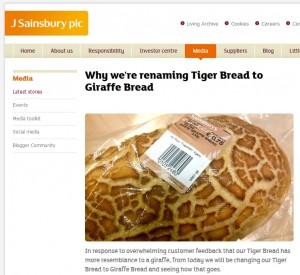 Kundenorientierung Sainsbury benennt Brotsorte um