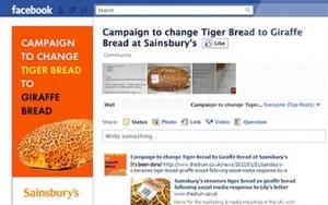 Sainsburys Facebook Kampagne Tigerbrot