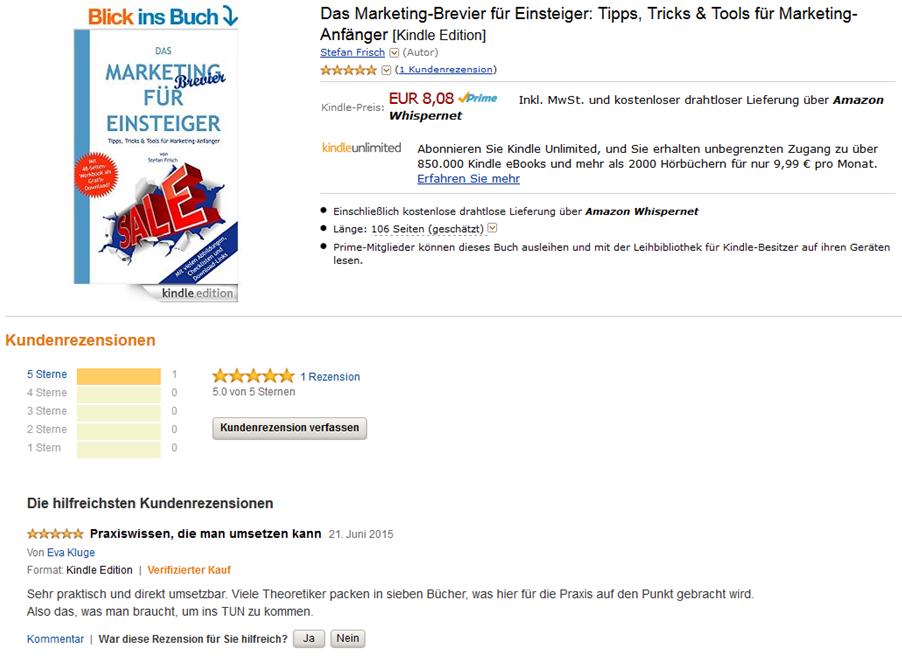 AmazonRezension Marketing-Brevier