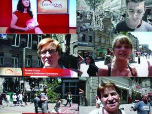 Fernsehbericht über Guerilla-Marketing-Aktion Fürth-Freeze
