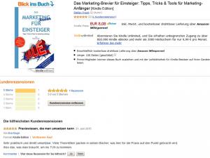 """Erste Rezension zum E-Book """" Das Marketing-Brevier für Einsteiger"""""""